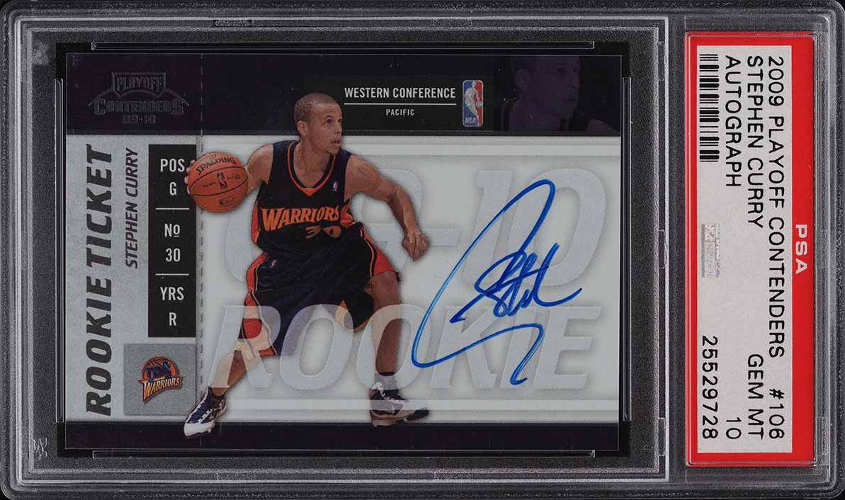 2009 Playoff Contenders Stephen Curry ROOKIE RC AUTO #106 PSA 10 GEM MINT - Image 1