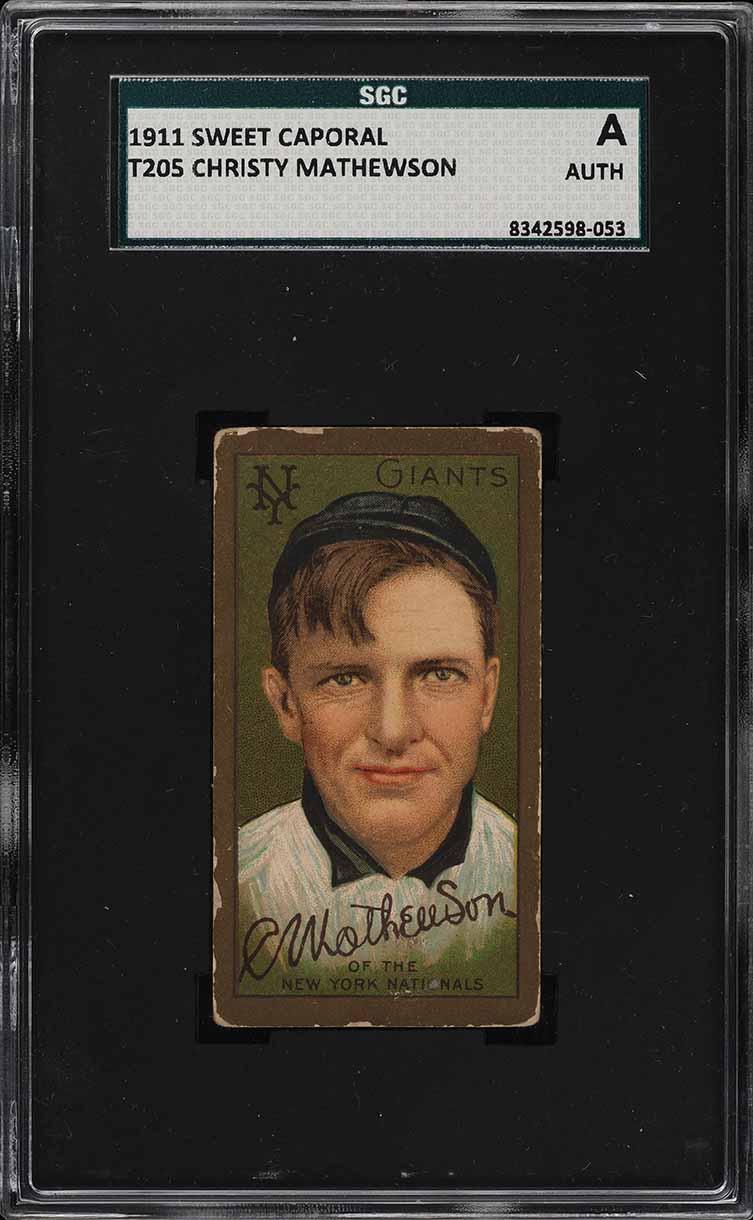 1911 T205 Gold Border Christy Mathewson SGC Auth (PWCC) - Image 1
