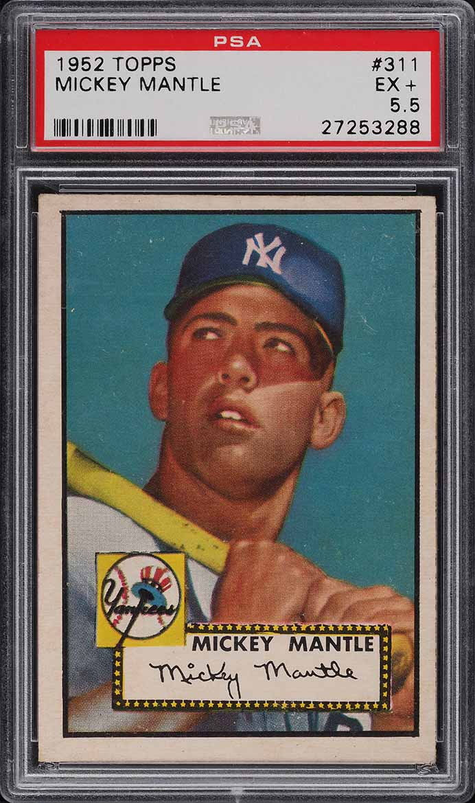 1952 Topps Mickey Mantle #311 PSA 5.5 EX+ - Image 1