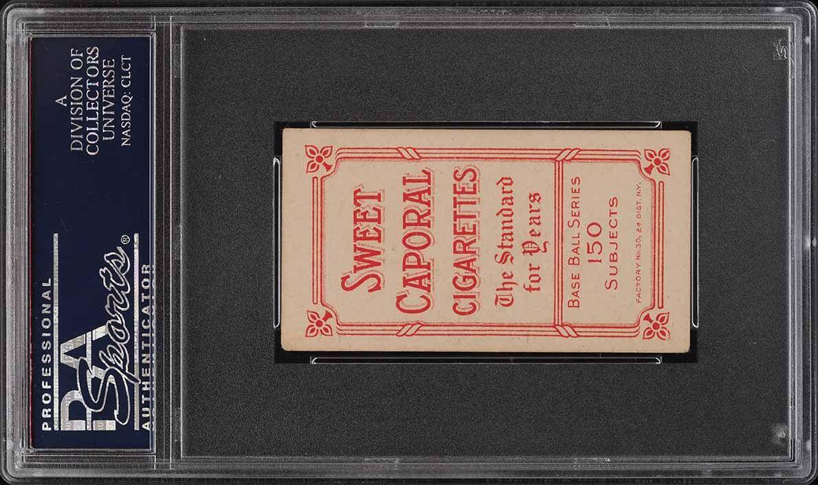 1909-11 T206 SETBREAK Joe Birmingham HORIZONTAL PSA 4.5 VGEX+ (PWCC) - Image 2