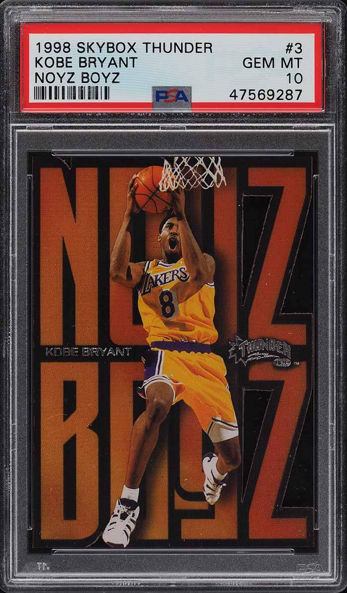 1998 Skybox Thunder Noyz Boyz Kobe Bryant #3 PSA 10 GEM MINT - Image 1