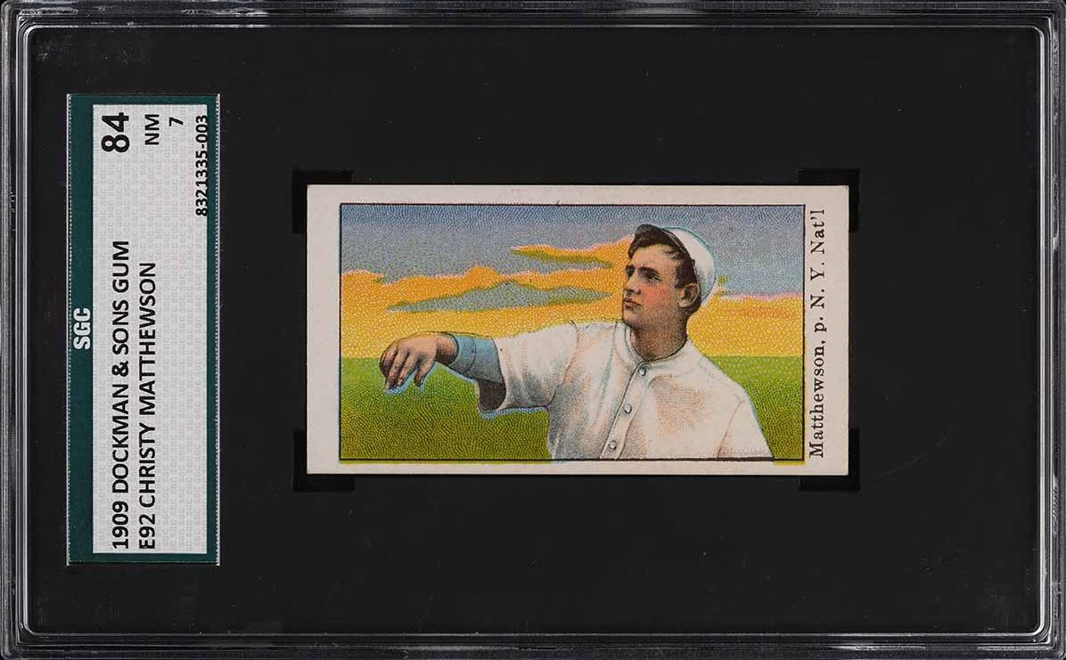 1909 E92 Dockman & Sons Christy Mathewson SGC 7 NRMT - Image 1