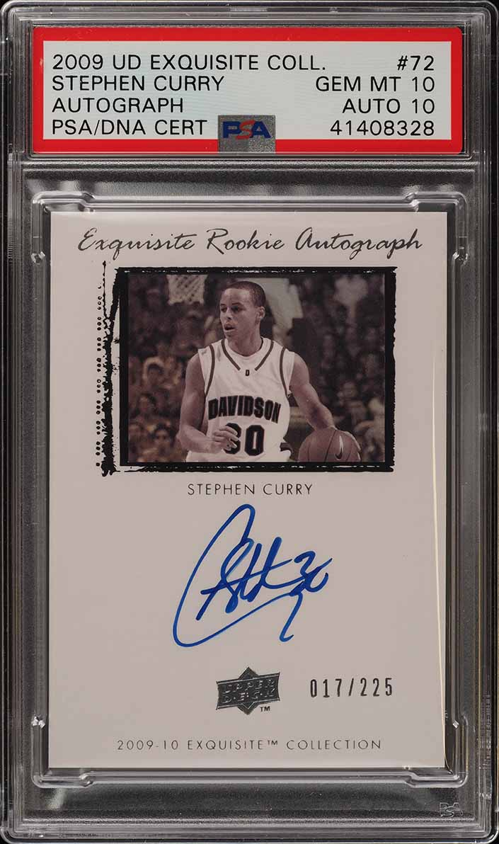 2009 Exquisite Collection Stephen Curry RC PSA/DNA 10 AUTO /225 PSA 10 (PWCC) - Image 1