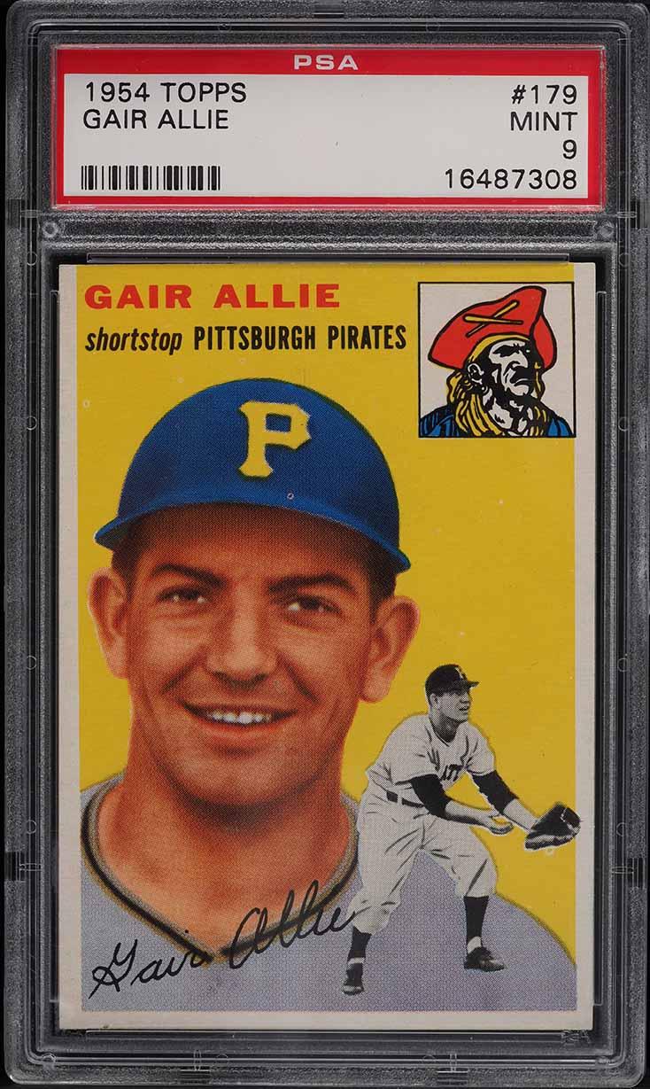 1954 Topps Gair Allie #179 PSA 9 MINT - Image 1