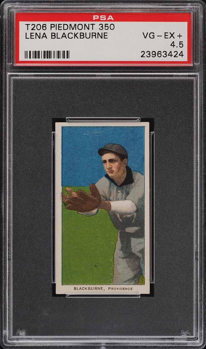 1909-11 T206 SETBREAK Lena Blackburne PSA 4.5 VGEX+ (PWCC) - Image 1