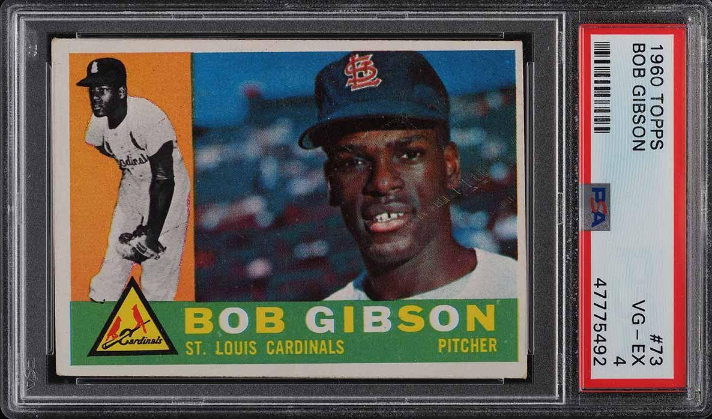 1960 Topps Bob Gibson #73 PSA 4 VGEX - Image 1