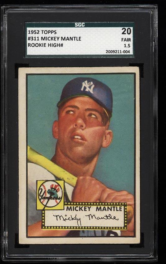 1952 Topps Mickey Mantle #311 SGC 1.5/20 FR+ (PWCC) - Image 1
