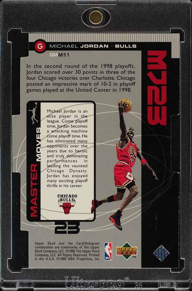 1998 Upper Deck MJ23 Quantum Silver Die-Cut Michael Jordan 22/23 #M11 (PWCC) - Image 2