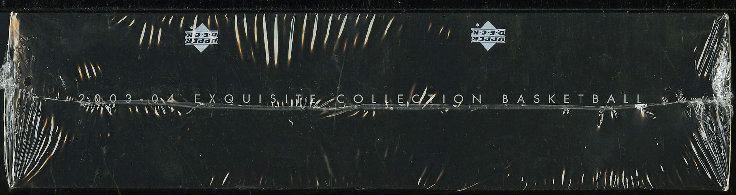 2003-04 UD Exquisite Collection BBall Factory Sealed Hobby Box LeBron RC? (PWCC) - Image 3