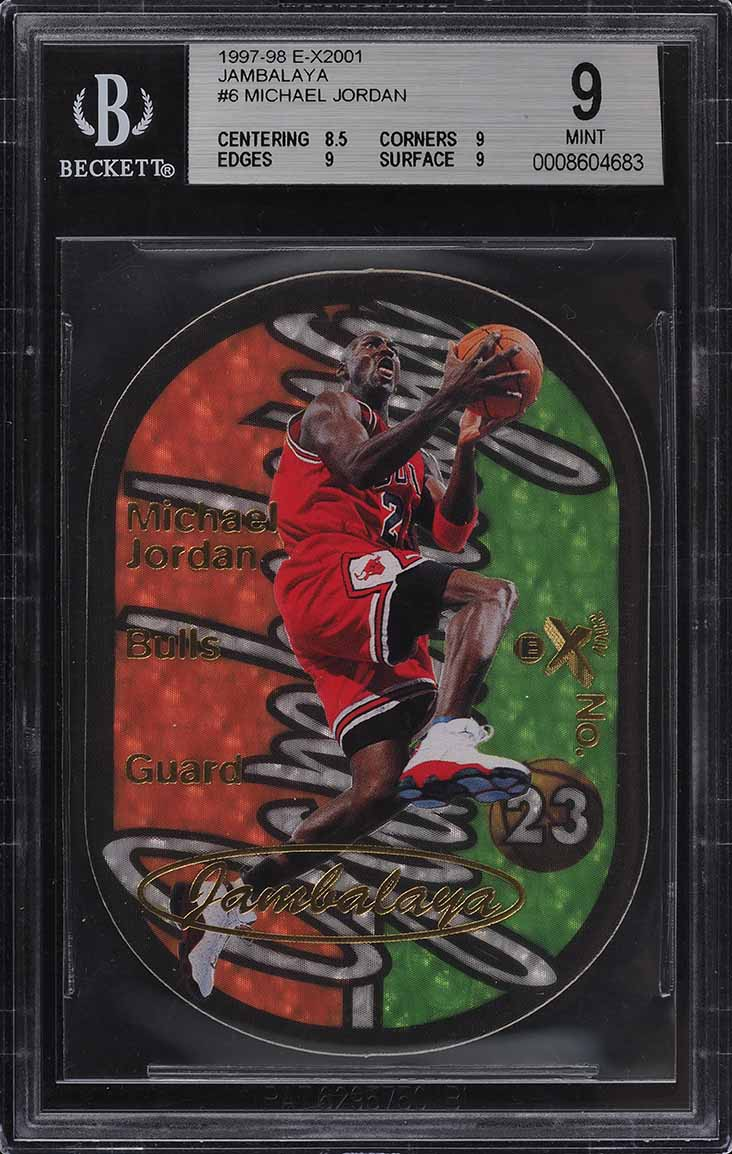 1997 E-X2001 Jambalaya Die-Cut Michael Jordan #6 BGS 9 MINT (PWCC) - Image 1