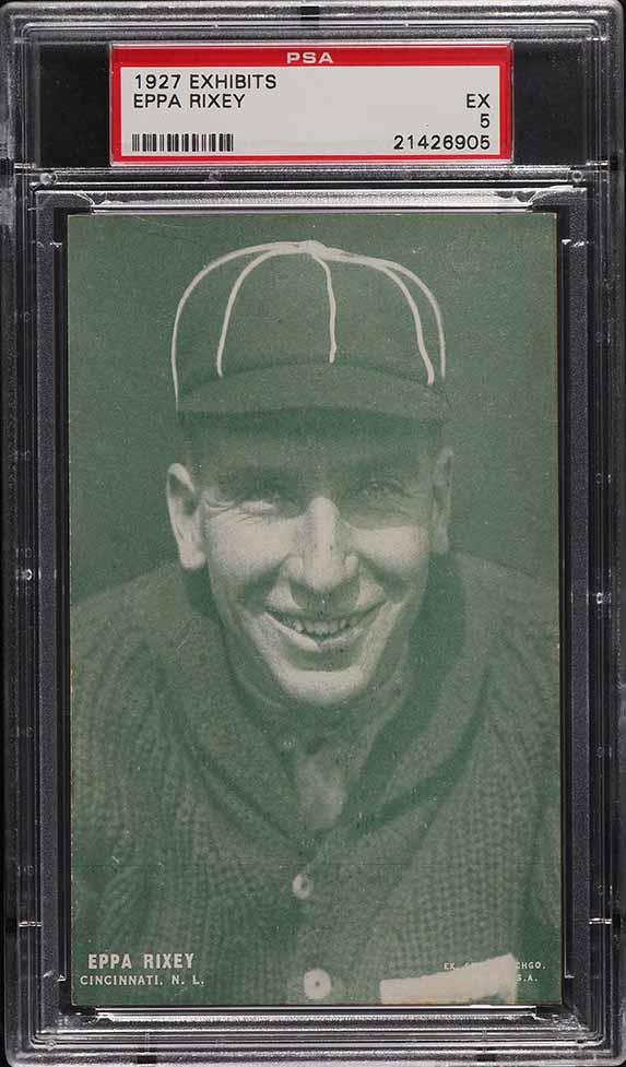 1927 Exhibits Eppa Rixey GREEN TINT PSA 5 EX - Image 1