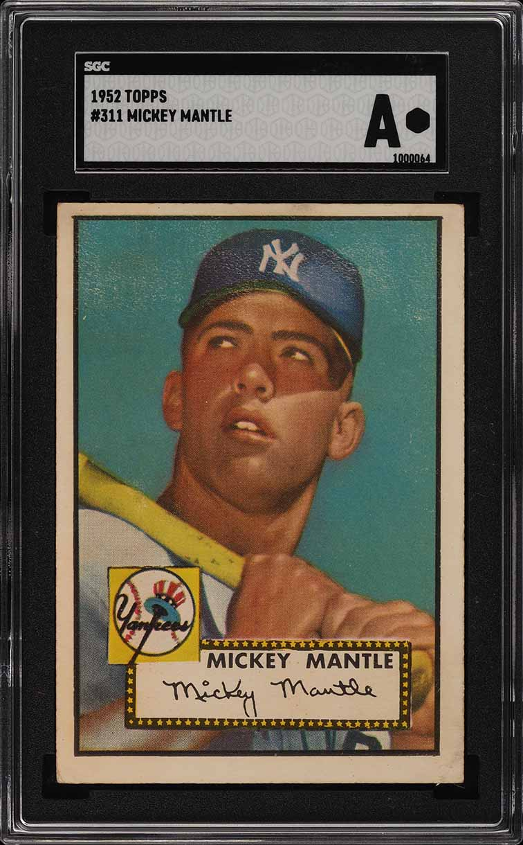 1952 Topps Mickey Mantle #311 SGC Auth, PSA Min Size (PWCC) - Image 1