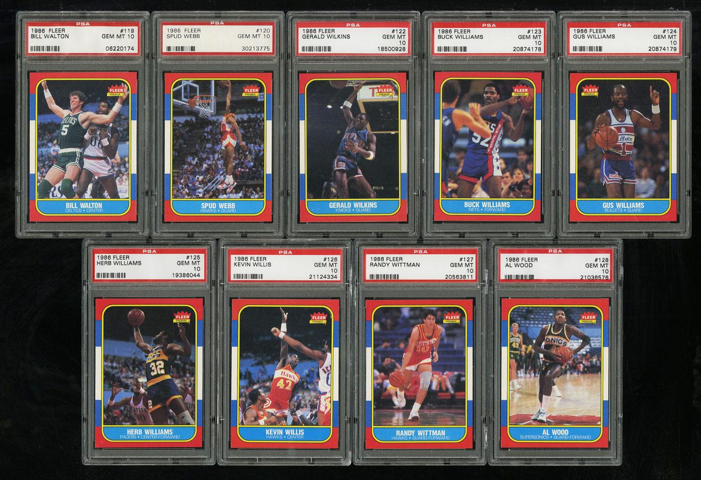 1986 Fleer Basketball COMPLETE PSA 10 SET Johnny Moore Michael Jordan RC (PWCC) - Image 14