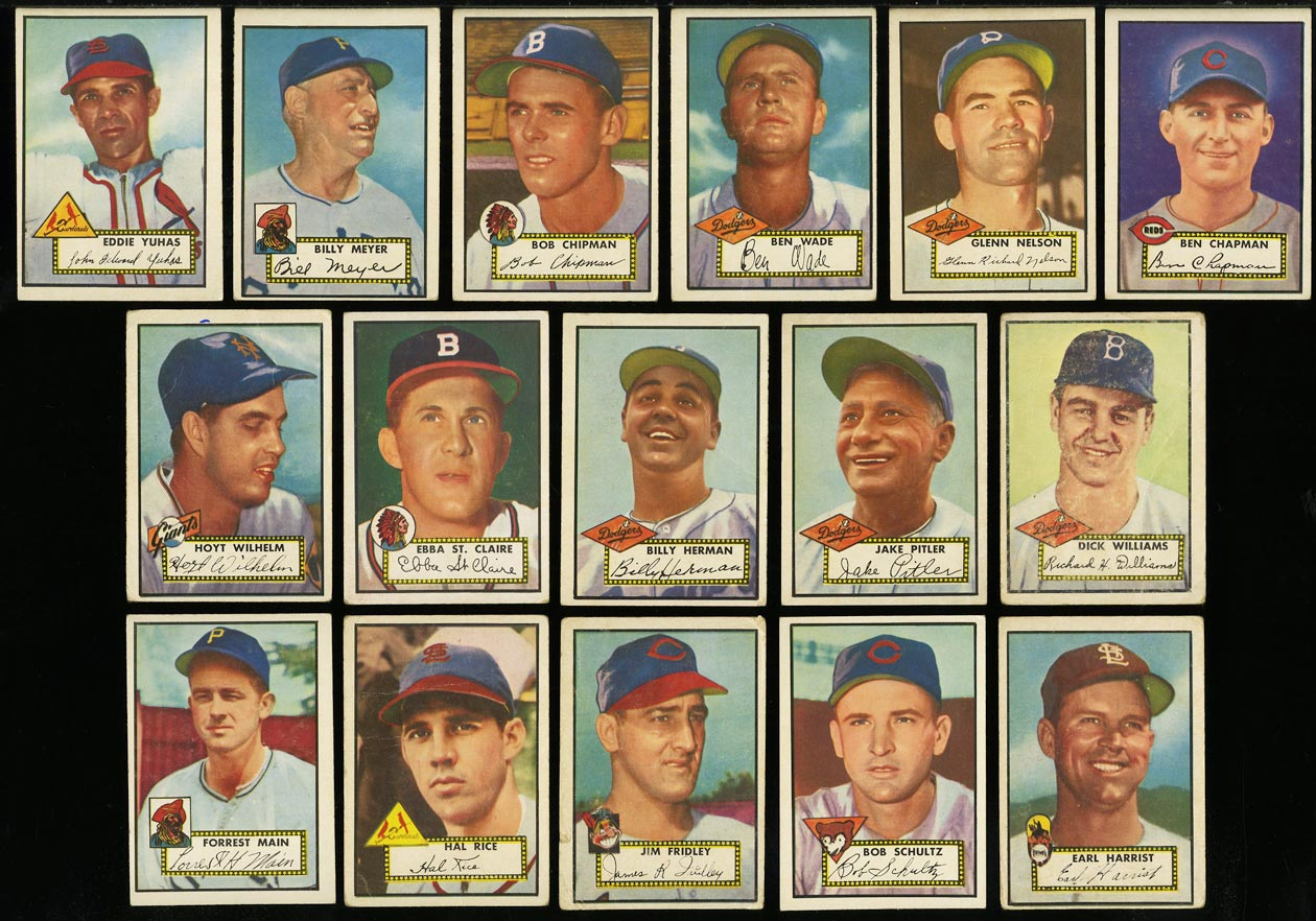 1952 Topps Lo-Mid Grd COMPLETE SET Mays Mathews Berra Robinson Mantle PSA (PWCC) - Image 16