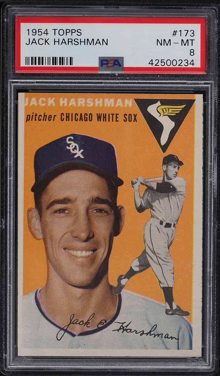 1954 Topps Jack Harshman #173 PSA 8 NM-MT - Image 1