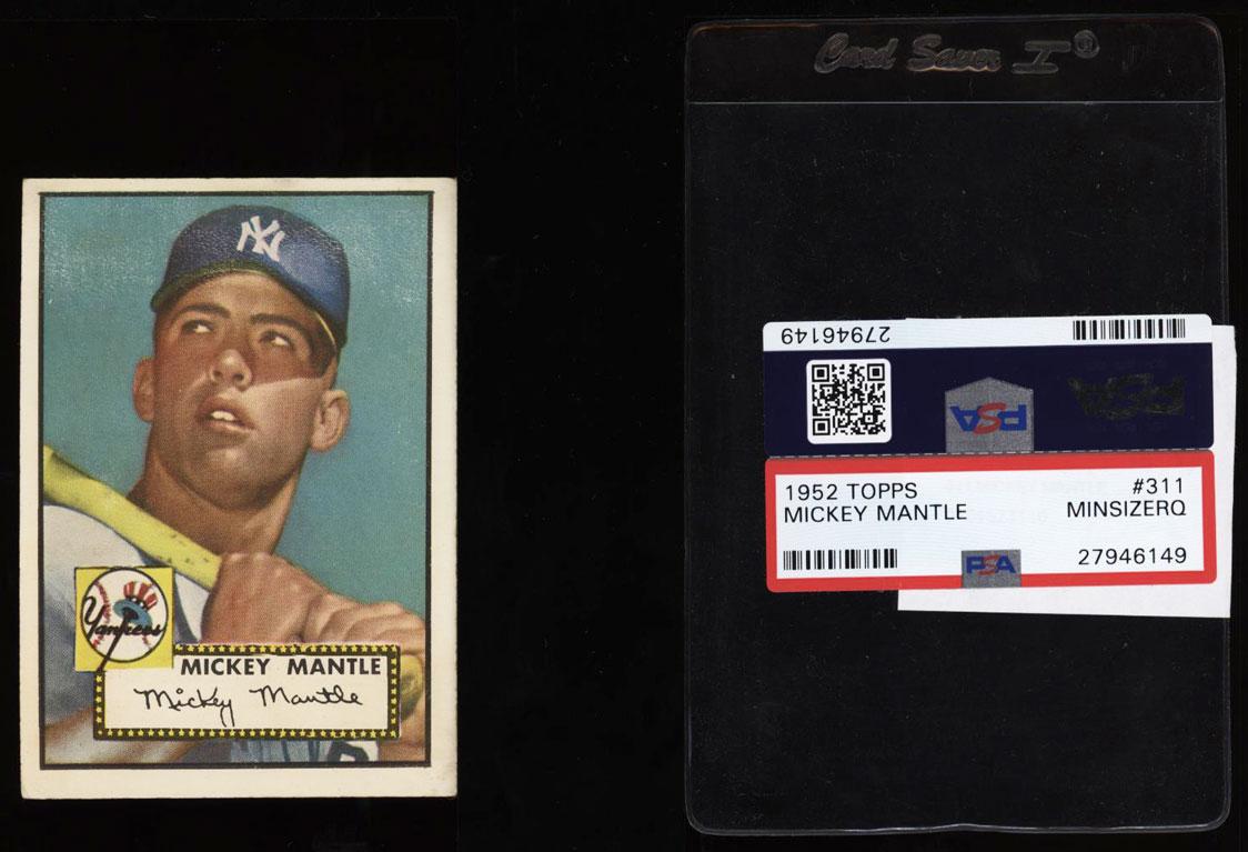 1952 Topps Mickey Mantle #311 PSA Minimum Size, VGEX (PWCC) - Image 1