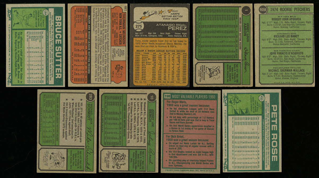 Lot(27) 1952-77 Topps Stars w/ Mantle Rose Seaver McCovey Carew Sutter RC (PWCC) - Image 4