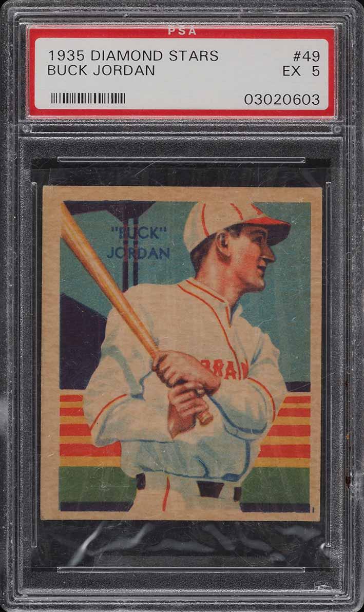 1935 Diamond Stars Buck Jordan #49 PSA 5 EX - Image 1