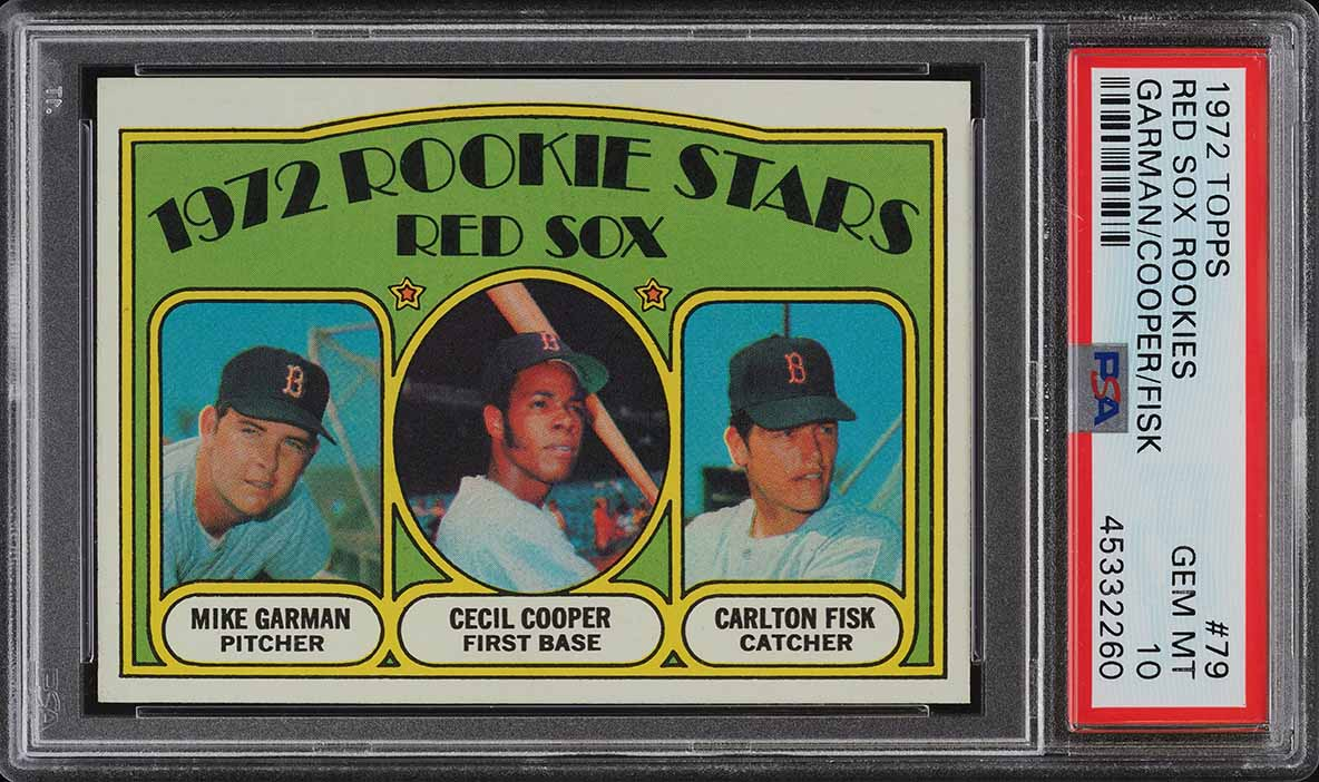 1972 Topps Carlton Fisk ROOKIE RC #79 PSA 10 GEM MINT (PWCC) - Image 1